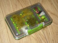 Leeda Profil Storage Box / Carry Case of 62 Assorted Fly Fishing Flies - Wet, Dry, Nymph, Buzzers.