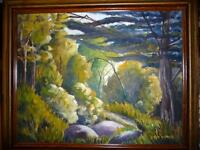 "Ted Ward ""Mid-Summer's Forest"" Oil Painting"