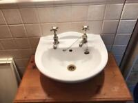 Basin inc taps and cabinet
