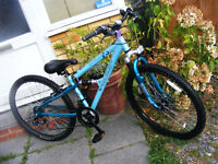 """GIRLS 26"""" WHEEL BIKE IN GREAT WORKING ORDER HARDLY USED AGE 12-LADY"""