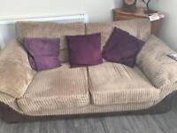 3+2 seater sofa. Beige..