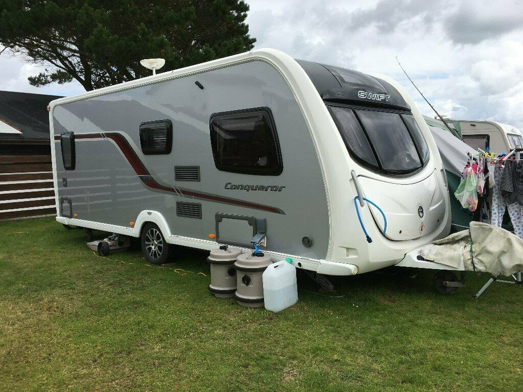 Swift Conqueror 570 4-Berth caravan Fixed double bed 2011 | in Chelmsford,  Essex | Gumtree