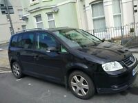 2004 VW Touran, 2.0l, Black, Full Leather seats, Low Miles