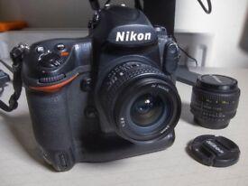 Nikon D3 Full Frame Digital Camera + Nikon 24mm + Nikon 50mm