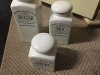 CERAMIC TEA/COFFEE/SUGAR POTS