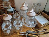 Wedding Pick'n'Mix Jars + Scoops + Glass Display + Picnic Basket