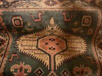 Long pure wool Oriental style rug /runner