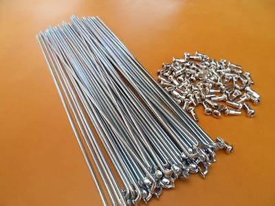 New MTB City Bicycle Bike Steel Spoke 2.0mm 14G 219mm 72 Ct Chrome