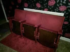 Vintage cinema chairs