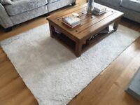 Large cream soft shaggy rug - M&S (Used)
