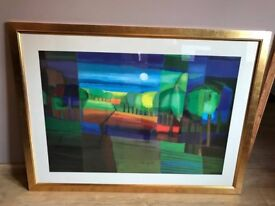 "LARGE TON SCHULTEN ""MOUNTAINS IN THE SUN"" SIGNED & ESPECIALLY PRODUCED FOR JOHN LEWIS"