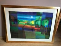 """LARGE TON SCHULTEN """"MOUNTAINS IN THE SUN"""" SIGNED & ESPECIALLY PRODUCED FOR JOHN LEWIS"""