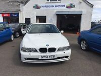 Reg. 25/10/2001 BMW 525D SE 2.5L DIESEL - FSH - IMMACULATE CONDITION - YEAR MOT-SERVICE-READY TO GO