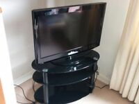 """32"""" TV and TV stand"""