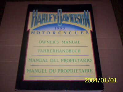 Harley Davidson 1993 Owners Manual In English And Three Other Languages