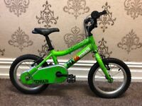 Ridgeback MX14 Terrian kids bike + stabilisers