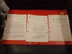 Letters signed by Lord Mountbatten
