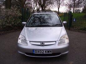 Honda Civic 1.6 i-VTEC SE Hatchback 5dr 3 MONTHS NATIONAL WARRANTY 2003 (02 reg), Hatchback