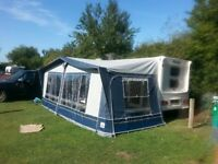 6 berth touring caravan with motor mover 2007 bailey pageant