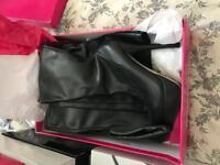 Black Thigh High Black Boots. Size 6