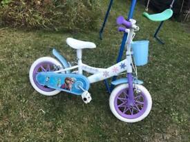 Girls junior frozen bike