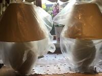 Beautiful cream lamps with shades