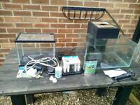 Job lot small fish tanks and accessories