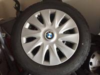 4 x Bridgestone RunFlat Winter Tyres + Steel Wheels+Wheel Trims for BMW 3 Series