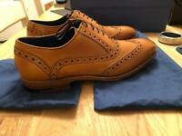 Barker Shoes. Grant. Oxford/Brogue. Tan leather.