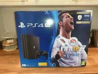 PS4 PRO WITH FIFA 18 BRAND NEW LATEST VERSION PS4 £270