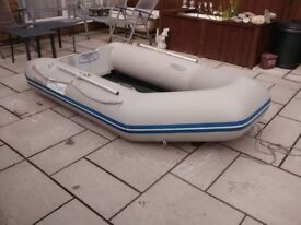 INFLATABLE DINGHY WAVELINR 2.7m , 3 MAN ,SOLID OUTBOARD TRANSOM DINGY TENDER RIB BOAT