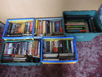 BOOK COLLECTION - APPROX 100 - MAINLY NOVELS + GARDENING - WILBER SMITH / CLIVE CUSSLER ETC