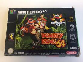 Donkey Kong 64 Boxed With Expansion Pack