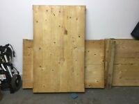 5 pine soft wood pallets, been in garage for 4 years so dry.