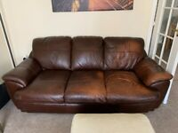 3 Seater Brown High Quality Leather Sofa