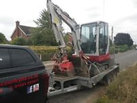 Excavator / digger & driver or self drive for hire, Daily, Weekend, Weekly , Other Plant Available
