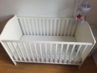 Toys r us baby Cot Bed with Mattress ( Hardly used)