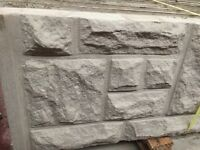 Rock face concrete base panels, gravel boards