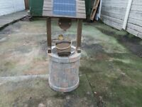 solarpower wishing well water feature.