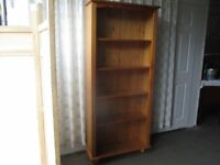 TALL PINE FOUR SHELF BOOKCASE FREE DELIVERY