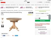 Almost brand new extending table - never been uncovered - bargain