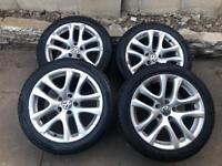 "Vw scirocco 17"" genuine Alloy Wheel donighton 5x112 golf Passat seat Audi A3 a4"