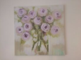 Flower canvas from Next - 80cm x 80 cm £30 ONO - Delivery within 3 miles if reasonable offer made.