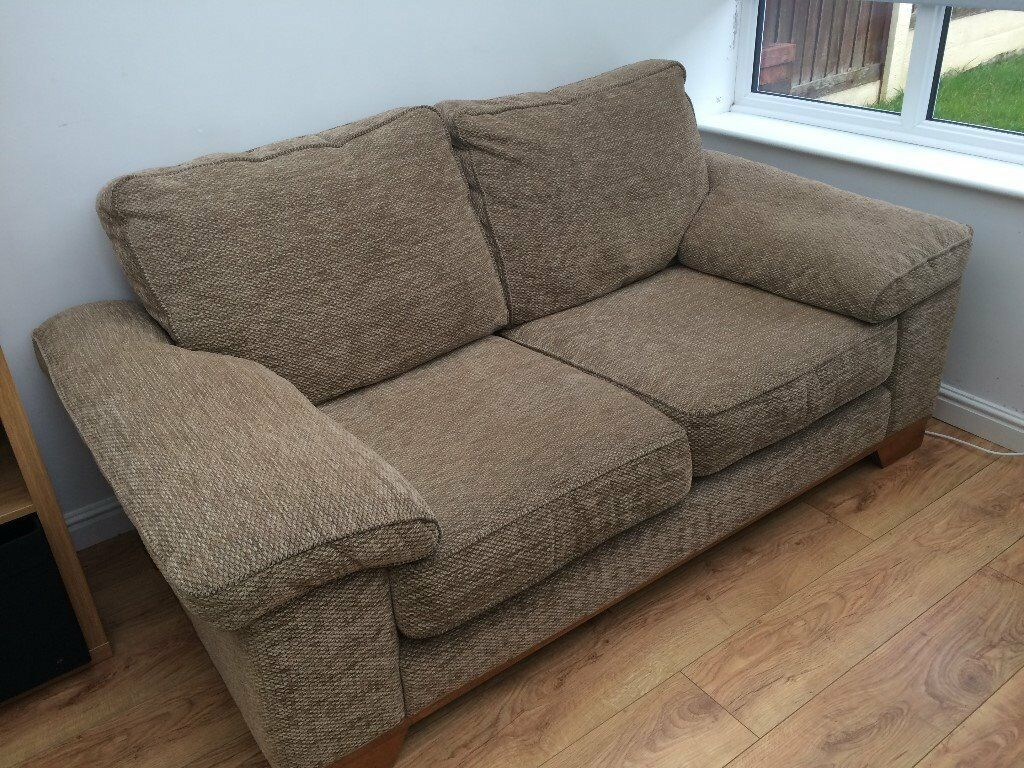 3 Seater 2 Sofas British Made Yeoman Denver High Quality Heavy Weave