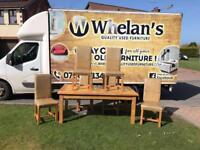 Solid oak wood dining room table and 6 heavy chairs-this was £2000 new we need £199!