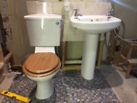 Bathroom suite + steel bath tub