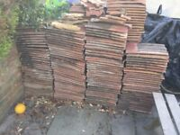 Approximately 150 roof tiles free to collector