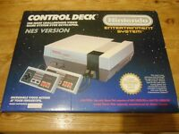 Nintendo Entertainment System (NES) boxed & Super Mario 1 and 3