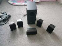 Panasonic home theatre speakers with subwoofer
