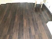Laminate flooring - dark wood effect